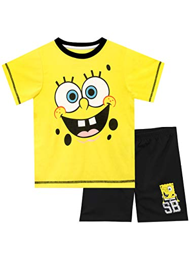 Spongebob Boys Sponge Bob Squarepants Pajamas Multicolored Size 6 -