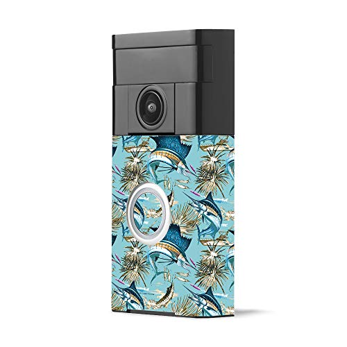 MightySkins Skin for Ring Video Doorbell - Island Fish | Protective, Durable, and Unique Vinyl Decal wrap Cover | Easy to Apply, Remove, and Change Styles | Made in The USA