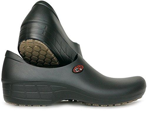 Women's Printed Waterproof Non Slip Work Shoes - Nursing Shoes - KEEPNURSING (8, Black - Stetho Love)