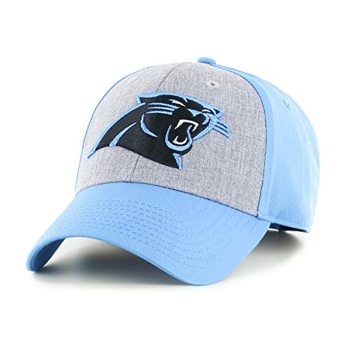 OTS NFL Carolina Pantshers Male Essential All-Star Adjustable Hat, Glacier Blue, One Size ()