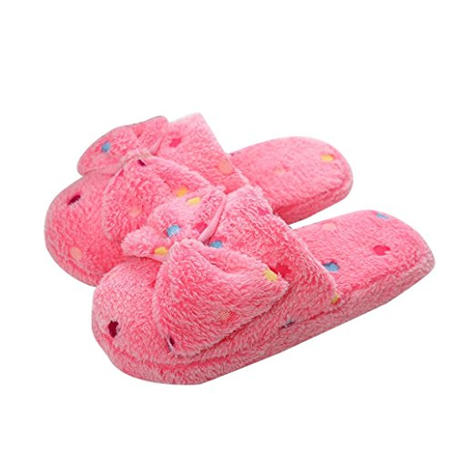 Donne Uomini Coppie Casa Pantofola Inverno Caldo Peluche Slip-on Scarpa Indoor Rosa
