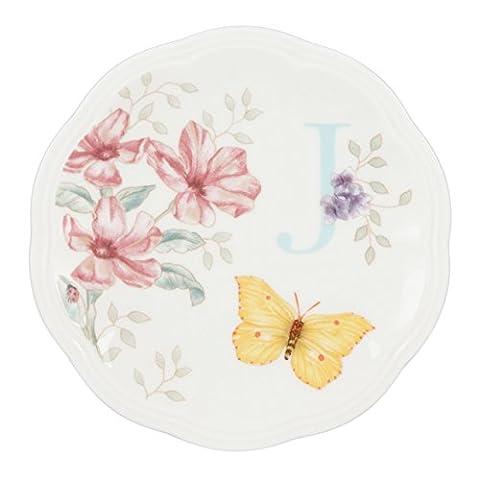 Lenox Butterfly Meadow Dish Initial J (Butterfly Jewelry Dish)