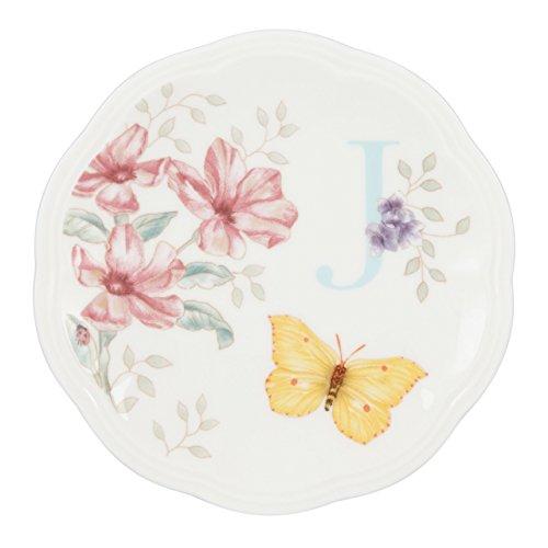 Lenox Butterfly Meadow Dish Initial J
