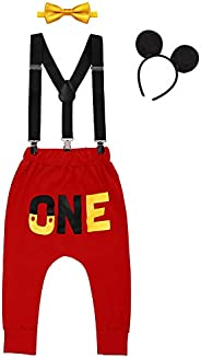 IMEKIS Baby Boys Cake Smash Outfit First 1st Birthday ONE Pants Clothes Set