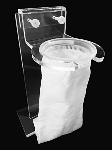 """4"""" Pre Sump Filter Sock Holder(Mount) and Free Filter Socks 200 Micron - 4 Inch Ring by 14 Inch Long -Aquarium Felt Filter Bags for Aquarium Reef Tank Micron Bag,Acrylic Thickness:7.3mm"""