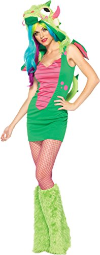 Leg Avenue Womens Animals Sexy Magic Dragon Furry Monster Halloween Costume, XS (Leg Avenue Dragon Costume)
