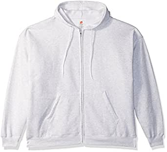 Hanes Men's Full-Zip EcoSmart Fleece Hoodie, Ash, Small