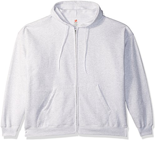 Zip Sweatshirt Hoody Ash Full (Hanes Men's Full-Zip EcoSmart Fleece Hoodie, Ash, Medium)