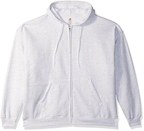 Hanes Men's Full-Zip EcoSmart Fleece Hoodie, ash, Medium