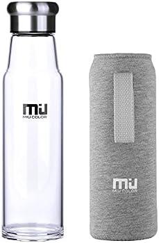 MIU COLOR 18.5 oz Glass Water Bottle