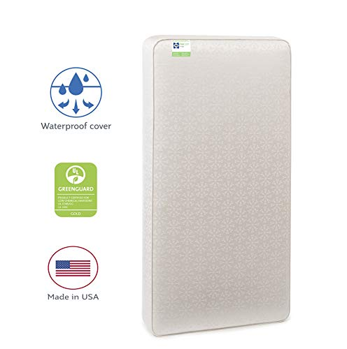 Sealy Baby Flex Cool 2-Stage Airy Dual Firmness Waterproof Standard Toddler & Baby Crib Mattress, 51.7