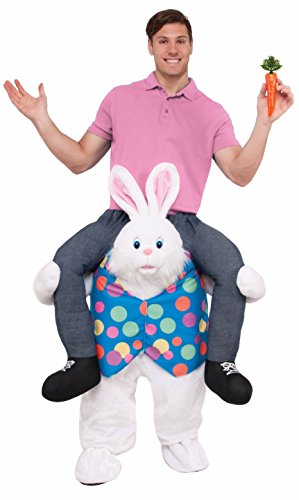Forum Novelties Men's Hop On Top Ride-on Easter Bunny Costume, As As Shown, Standard]()
