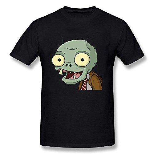 Men's Halloween Zombie Smile Cartoon Funny Short Sleeve T-shirt