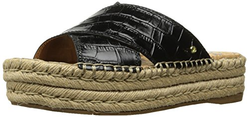 Sam Edelman WoMen Natty Espadrille Wedge Sandal, Golden Caramel Suede, 11 M US Black Crocodile