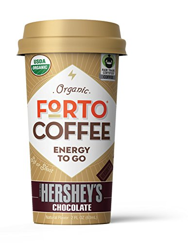 100mg Caffeine, Hershey's Chocolate Latte, Everyday Energy Shot Made From Organic Cold Brew, High Caffeine - Strong Coffee, Ready to Drink 2 ounce Bottled Double Shots