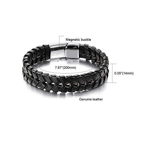 Mm Herren Snap Hand Leder Armband Ambiguity 200 Magnetic 14