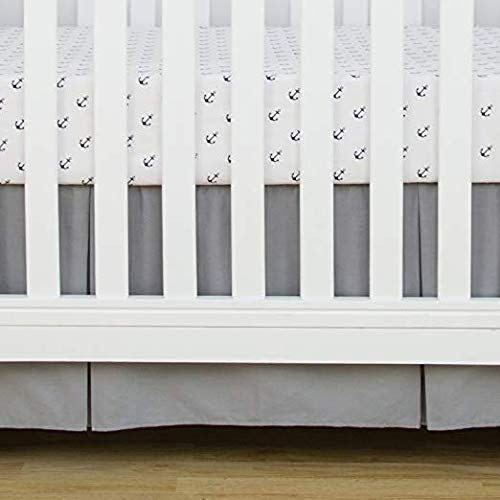 Cotton Metrics Linen 800TC 100% Pure Cotton Tailored Crib Bed Skirt Pleated 14 Inches Long for Baby Girls and Boys (Color - Silver Grey) -  GANESHJI078