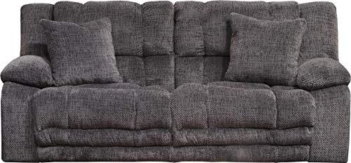 Catnapper 2001270528 Lay Flat Reclining Sofa in Pewter