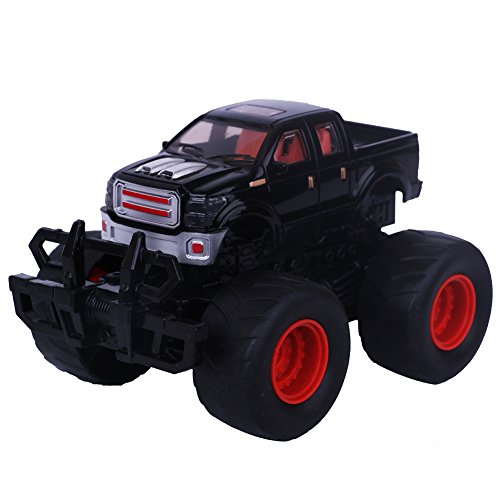 TV Push and Go Friction Powered Car Toys Mini Push Pull Back Inertia Bounce Pickup Car For Kids