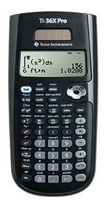 Texas Instruments TI 36 X PRO - Calculadora científica, negro