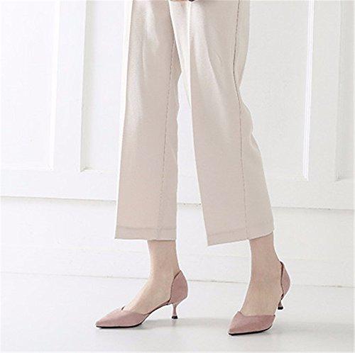C con da da Primavera EU l'estate lavoro donna 33 YMFIE da un in stiletto aria moda e sexy scarpe scarpe scarpe elegante festa temperamento singolo S6ndxqvRw