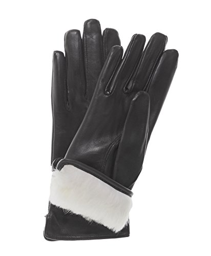 Fratelli Orsini Everyday Women's Our Bestselling Italian Rabbit Fur Gloves Size 7 1/2 Color Black