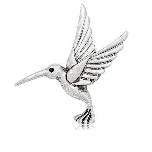 lver Beautiful Hummingbird Strong Magnetic Brooch ()