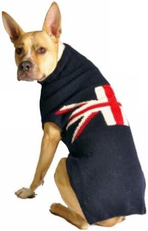 Chilly Dog Union Jack Dog Sweater Large