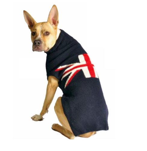 Chilly Dog Union Jack Dog Sweater, Large (Union Jack Futon)