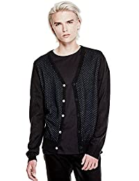 GUESS Men's Perforated Cardigan