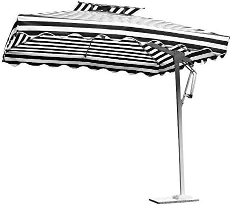 ZYW Voladizo Hanging Sombrilla Paraguas De Sol Sistema De Manivela con Jardín Al Aire Libre Patio De Sombra Baseumbrellas Cruz De Huertos Familiares, Y Los Paraguas A Prueba De Rayos UV,Negro,2.5M