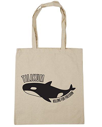 HippoWarehouse Susanne Tötung Für Freedom Einkaufstasche Fitnessstudio Strandtasche 42cm x38cm, 10 liter - Natürlich, One size