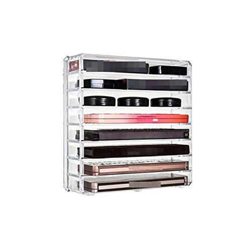 (Fairly decorative-boxes Clear Acrylic Makeup Organizer Cosmetic Storage Box Makeup Powder Box Desktop Women Lipstick Holder Makeup Brushes Organizer,2)