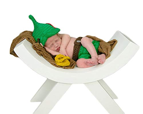 Last Pans Best Peter - Infant Newborn Baby Boy Girl Crochet Costume Outfits Photography Props Peter Pan Hat+Pant 0-6 Months
