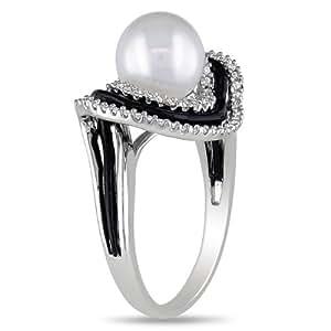 Delmar UK - Anillo de plata de ley con diamante