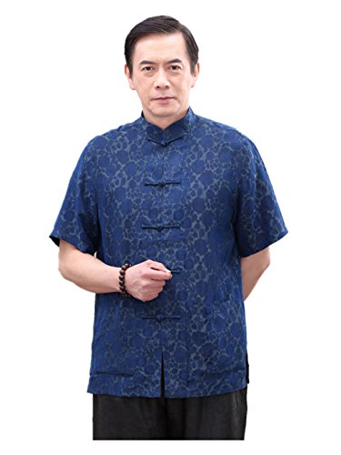 Heigh- end Business Shirts Tang Suit Retra Shirt Chinese National Style Mulberry Silk by JIANYUAN-Tang Suit