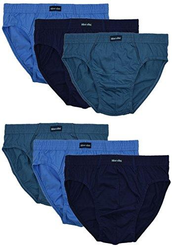Combinazioni Blau Apertura Classiche Cotone 6 Paia Colore E Mutande Da 100 Uomo Senza Con Di TPqnUwTCg