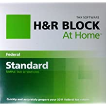 H & R BLOCK Tax Software At Home - for 2011 Tax Return - simple Tax Situations