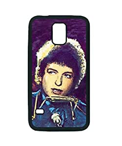 Father of American Rock Bob Dylan Singing Purple ~ For Case HTC One M8 Cover Black Hard Case ~ Silicone Patterned Protective Skin Hard For Case HTC One M8 Cover - Haxlly Designs Case