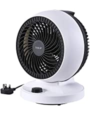 TISDLIP Oscillating Desk Fan Turbo Cooling Powerful Electric Air Circulator Fan