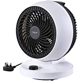 TISDLIP Oscillating Desk Fan 28W Turbo Cooling Quiet and Powerful Electric Fan