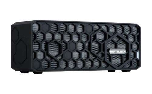 Tech-Life BeatBlock - Wireless Bluetooth Speaker: Rechargeable, Ultra-Durable and Splashproof (Bombproof Rubber Exterior-Black)