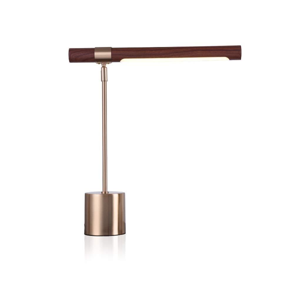 A-Lnice Metall überzogene LampenKörper-hölzerne Beschaffenheits-Eisen-Lampenschirm-Tischlampe, einfache Befestigung für Innenministerium-Studio