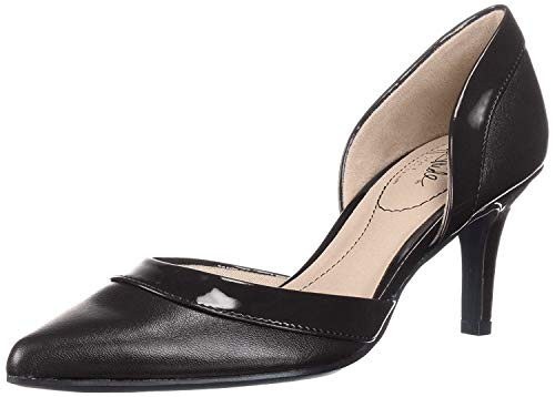 LifeStride Women's Saldana Pump, Black 001, 7 M US (Most Comfortable Dress Shoes For Standing All Day)