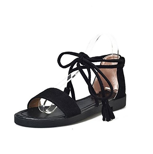 Zcaosma New Bandage Sandal Black Fashion 2018 Style Gladiator Beach Flat Summer Sandals Lace Women up rPrAwqYg