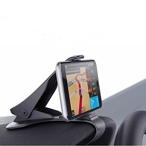 Perfect_Match Universal Cell Phone Car Mount Holder Dashboard Clip GPS Phone Stand for iPhone 7 Plus 6s Plus 6 5s 5 4s 4 Samsung Galaxy S8 Plus Note 5 MOTO Z Pixel XL and More Gps Type (Black)