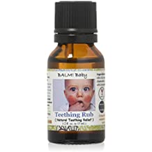 BALM! Baby Teething RUB! Natural Teething Relief Safe | Vegan | Cruelty Free - 1/2oz Glass Bottle (Single)
