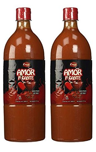 Salsas Castillo Amor Picante Hot Sauce 33oz (2 Pack)