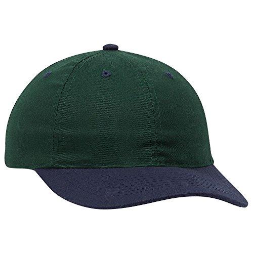 Twill 6 Panel Low Profile Baseball Cap - NVY/Dk.Grn ()