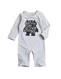 Younger star Infant Toddler Baby Boy Romper Summer Jumpsuit Short Sleeve Clothing Set
